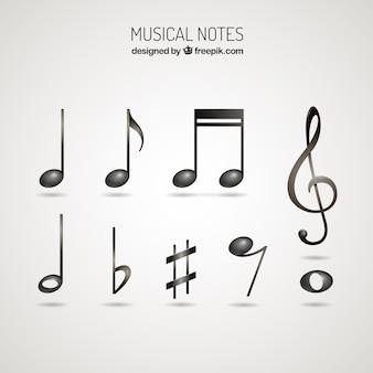 Raccolta di note musicali lucidi