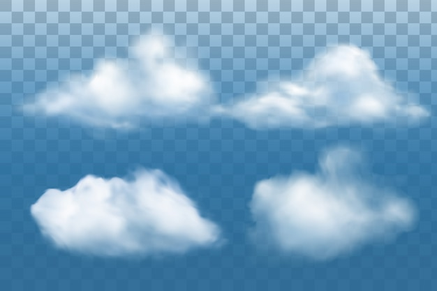 Raccolta di nuvole realistiche