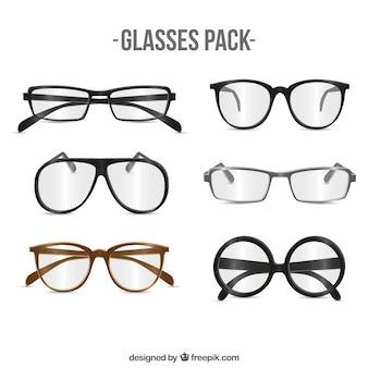 Raccolta di occhiali moderni