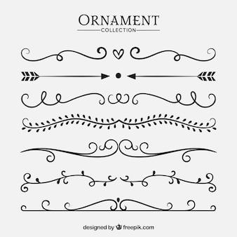 Raccolta di ornamenti di nozze per decorare