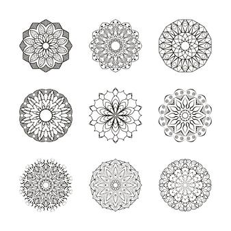 Raccolta di ornamenti floreali