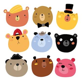 Raccolta di orsi sorridenti
