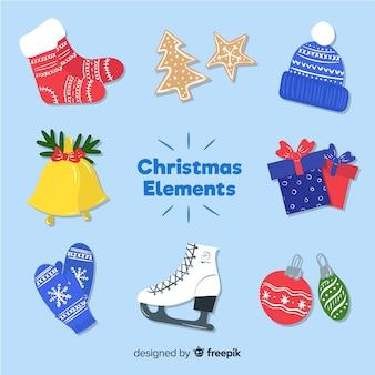 Raccolta di otto elementi natalizi