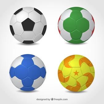 Raccolta di palle di pallamano in stile realistico