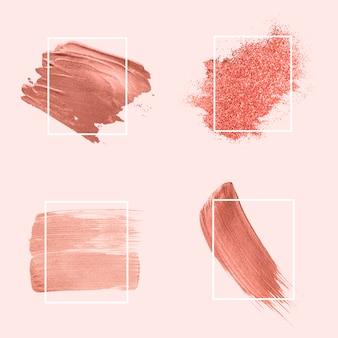 Raccolta di pennellate rosa