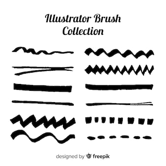 Raccolta di pennelli di illustrator