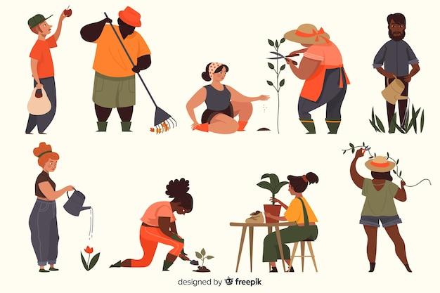 Raccolta di personaggi della gente