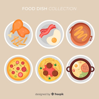 Raccolta di piatti piatti