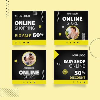 Raccolta di post di instagram dello shopping online