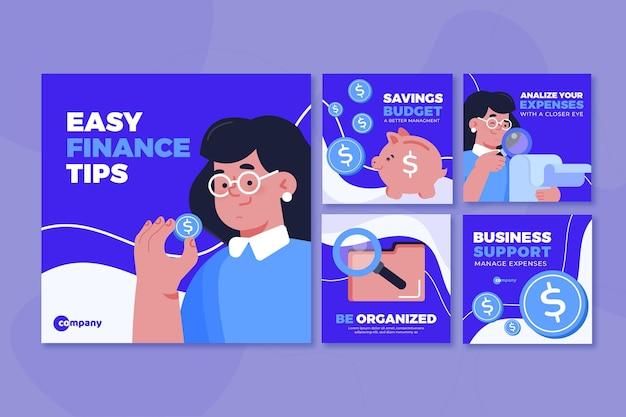 Raccolta di post di instagram di consigli finanziari