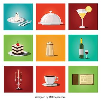 Raccolta di prodotti alimentari e di ristorazione