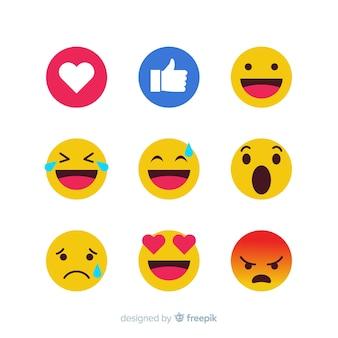 Raccolta di reazioni emoticon