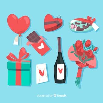 Raccolta di regali di san valentino