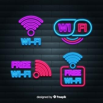 Raccolta di segnali wifi al neon