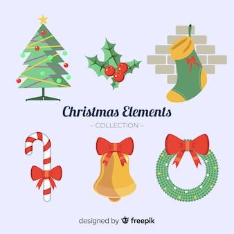Raccolta di sei elementi natalizi