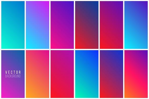 Raccolta di sfondo colorato astratto
