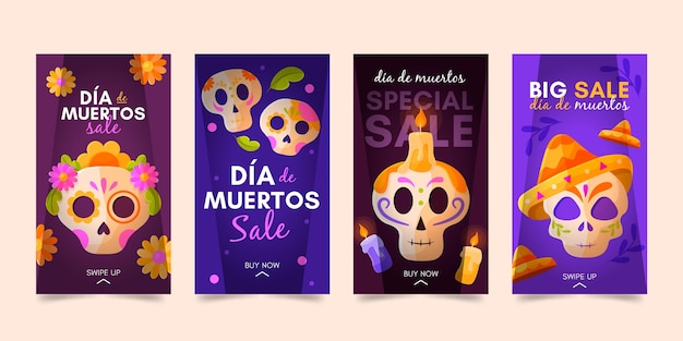 Raccolta di storie di instagram dia de muertos