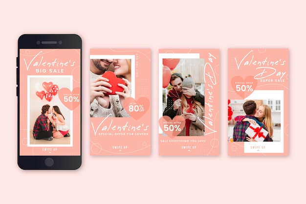 Raccolta di storie di vendita di san valentino