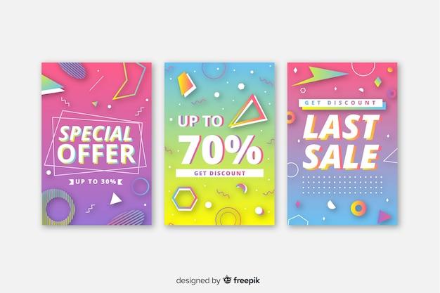 Raccolta di striscioni colorati vendita di memphis