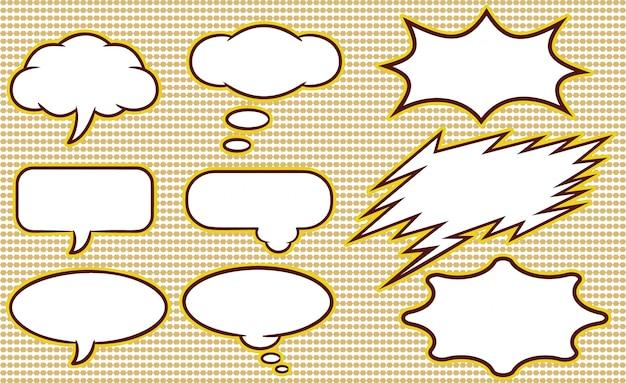 Raccolta di template di bolle di discorso