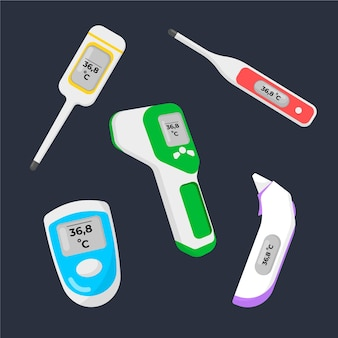 Raccolta di tipi di termometri