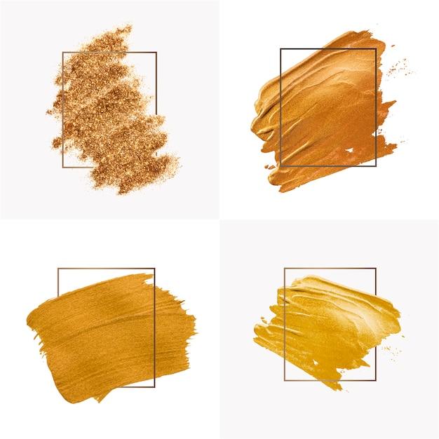 Raccolta di tratti di pennello d'oro