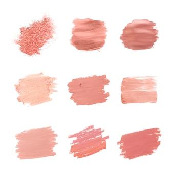 Raccolta di tratti di pennello rosa