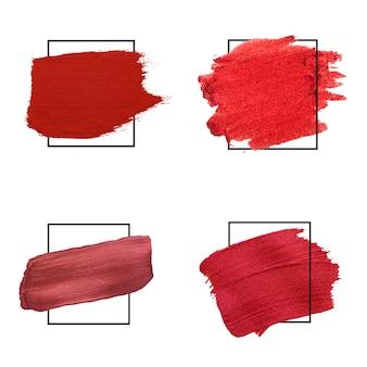 Raccolta di tratti di pennello rosso