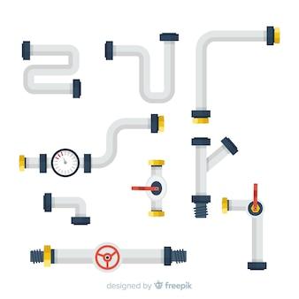 Raccolta di tubi piatti
