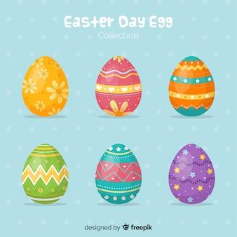 Raccolta di uova di pasqua giorno disegnato a mano