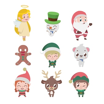 Raccolta di vari personaggi natalizi