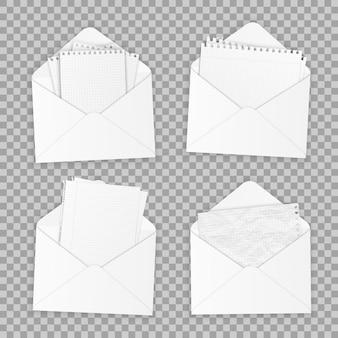 Raccolta di vari white paper realistici.