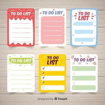 Raccolta di varie liste di cose da fare