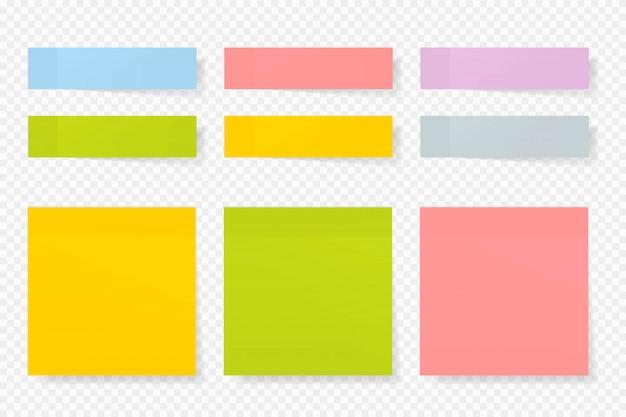 Raccolta di vettore di adesivi di carta di colore diverso.