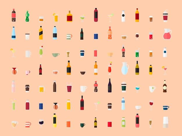 Raccolta di vettori di bevande