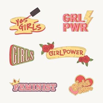 Raccolta di vettori di potere della ragazza