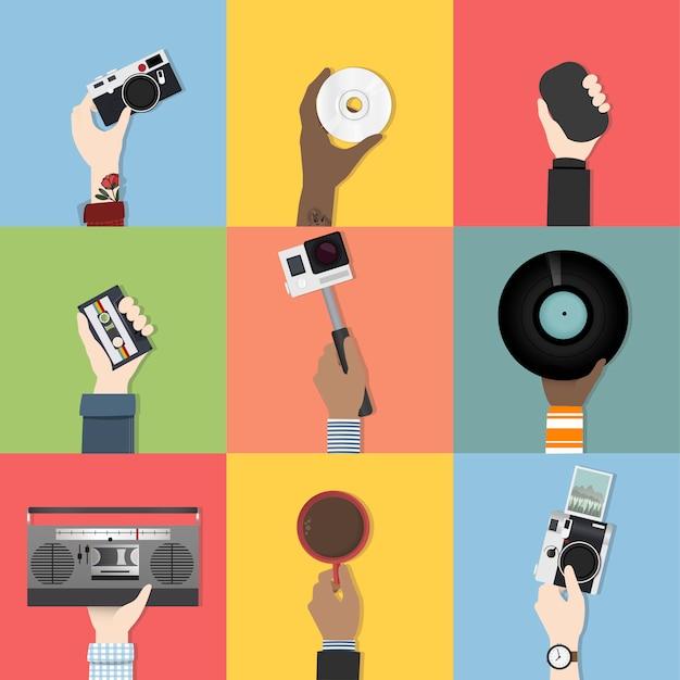 Raccolta di vettori tecnologici