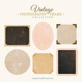 Raccolta di vintage fotografia cornice