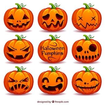Raccolta di zucca di halloween
