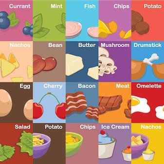 Raccolta disegni alimentari