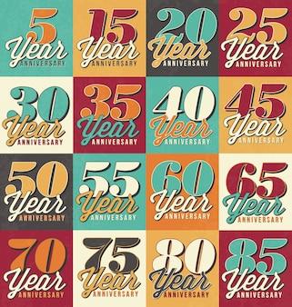 Raccolta disegni di anniversario