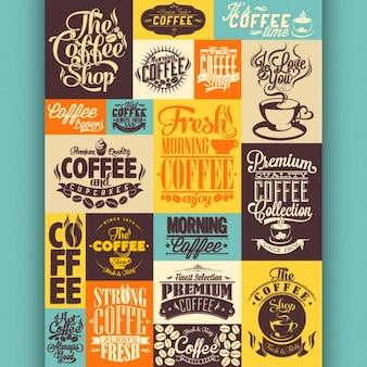Raccolta disegni di caffè