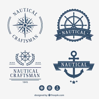 Raccolta distintivo nautical