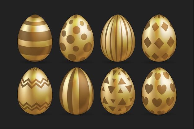 Raccolta dorata dell'uovo di giorno di pasqua