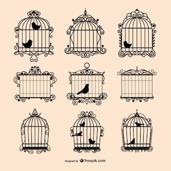 Raccolta gabbie per uccelli d'epoca