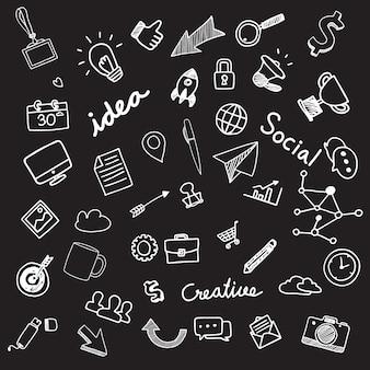 Raccolta illustrazioni disegnate a mano