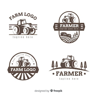 Raccolta modello logo fattoria piana