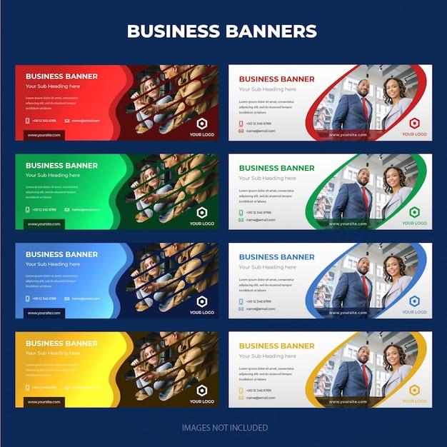Raccolta moderna della bandiera di affari corporativi