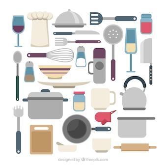 Raccolta posate in design piatto