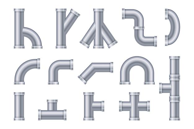 Raccolta realistica dell'illustrazione del tubo